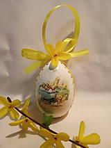 Dekorácie - Sada veľkonočných kraslíc s kuriatkami - v žltom - 10347043_
