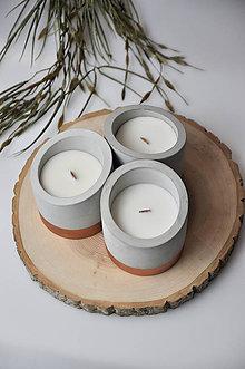 Svietidlá a sviečky - Beton - Orchidea, Lotosový kvet - 10347338_