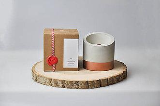 Svietidlá a sviečky - Beton - Dubové drevo, Bergamot - 10347352_