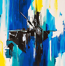 Obrazy - Obraz Dark, 50 x 50 cm, akryl na plátne - 10345659_