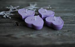 Svietidlá a sviečky - Fialové plávajúce srdiečka ♥♥♥♥ - 10346935_