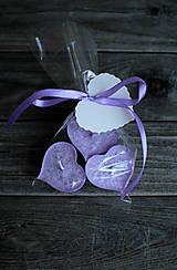 Svietidlá a sviečky - Fialové plávajúce srdiečka ♥♥♥♥ - 10346938_