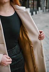 Kabáty - Vlnený kabát princess strihu SEVERANKA-krémový - 10347975_
