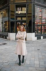 Kabáty - Vlnený kabát princess strihu SEVERANKA-krémový - 10347977_