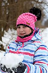 Detské čiapky - Hrejivý set - 10344301_