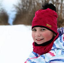Detské čiapky - Hrejivý set - srdiečka - 10344361_