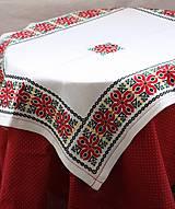 Úžitkový textil - Obrus. Vyšívaný krížikom s tradičným horehronským vzorom - 10347123_