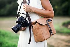 Iné tašky - F11 - brašňa na foťák v pieskovo žltej - 10345099_