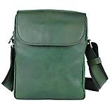 Tašky - Kožená etuja ručne tamponovaná z hovädzej kože, zelená farba - 10346980_