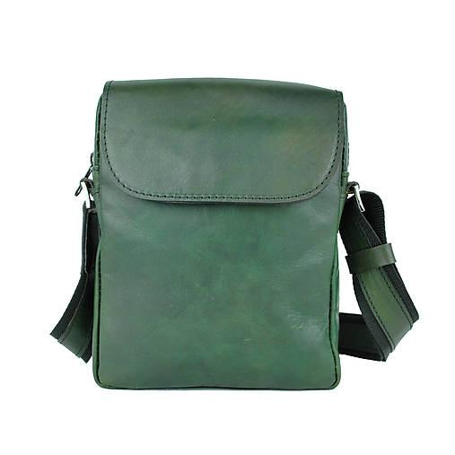 Kožená etuja ručne tamponovaná z hovädzej kože, zelená farba