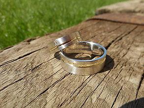 Prstene - Matované so zirkónikom - 10346419_