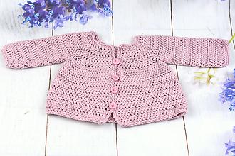 Detské oblečenie - Ružový svetrík pre novorodenca EXTRA FINE - 10345328_