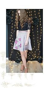 Sukne - Vyšívaná skladaná sukňa SKLADOM - 10346017_