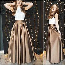 Sukne - Veľká kruhová skladaná sukňa rôzne farby - 10346540_