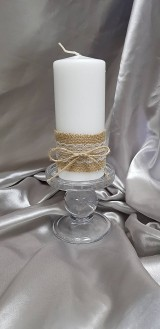 Ručne zdobená sviečka