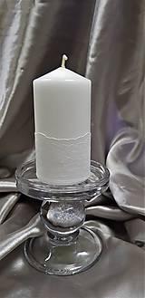 Sviečka ručne zdobená čipkou