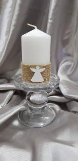 Ručne zdobená parafínová sviečka s anjelikom