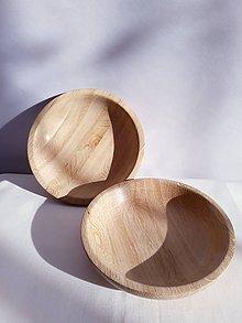 Nádoby - Väčšia miska, tanierik lepený dub - 10345992_
