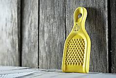 Pomôcky - Struhadlo na česnek - žluté - 10345853_