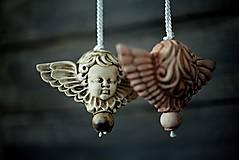 Dekorácie - Anděl bílý - 10345966_