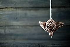 Dekorácie - Anděl patina železo - 10346243_