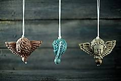 Dekorácie - Anděl patina železo - 10346244_