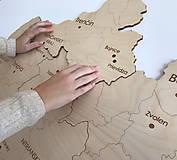 Dekorácie - Drevená mapa Slovenska - 10347717_