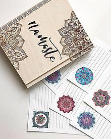 """Papiernictvo - Drevený zápisník """"Mandala"""" - 10347536_"""