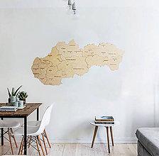Dekorácie - Drevená mapa Slovenska - 10347631_