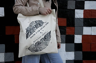 Nákupné tašky - Nákupná taška- pierka - 10347408_
