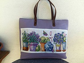 Veľké tašky - Veľká purpurová taška s ručnou výšivkou - 10347463_