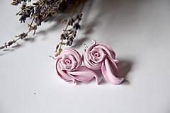 Náušnice - Visiace náušnice z polymérových hmôt, fimo (Ružové) - 10345311_