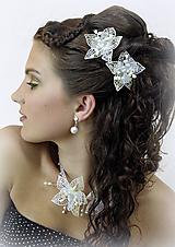 Ozdoby do vlasov - Svatební květy do vlasů - 10346775_