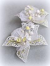 Ozdoby do vlasov - Svatební květy do vlasů - 10346785_