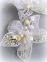 Ozdoby do vlasov - Svatební květy do vlasů - 10346791_
