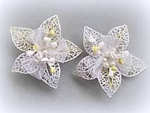 Ozdoby do vlasov - Svatební květy do vlasů - 10346793_