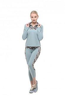 Mikiny - Bundička s krátkym zipsom modrá - 10347119_