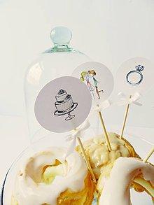 Dekorácie - Candybar - zápichy - 10347426_