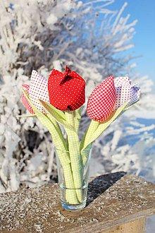Dekorácie - Tatranské tulipány (Červená) - 10347817_