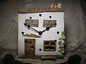 Hodiny - keramické stolové hodiny... - 10345395_