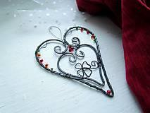 Dekorácie - tepané srdce - 10343918_