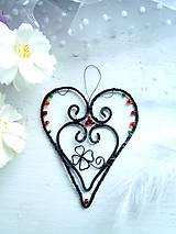 Dekorácie - tepané srdce - 10343919_