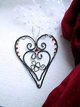 Dekorácie - tepané srdce - 10343921_