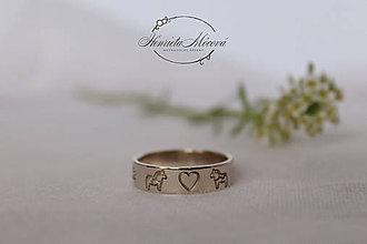 Prstene - zlatá folk obrúčka - 10345402_