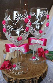 Nádoby - Svadobné poháre - 10349998_