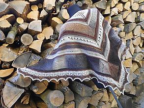 Šatky - Pletený šátek - V barvách země... - 10350449_