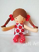 - Látková bábika Lienka - 10348874_