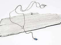 Náhrdelníky - 585 / 14k zlatý náhrdelník s prírodným zafírom - 10348840_