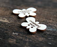Pierka - Gombíčky v tvare motýlika na svadobné pierka väčšie - 10350701_
