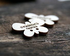 Pierka - Gombíčky v tvare motýlika na svadobné pierka väčšie - 10350703_